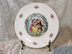 Regal valentine's plates on Christmas
