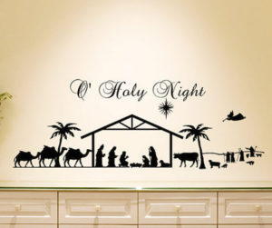 Relive the nativity scene on your walls