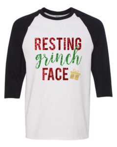 Resting Grinch face t-shirt for the people annoyed during Christmas