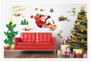 Santa – Sleigh – Reindeer – all on your backdrop