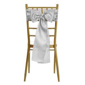 Satin ribbon Christmas chair décor