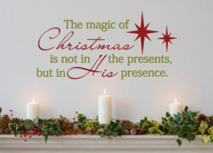 Turn to your religious side with the magic of Christmas wall decal