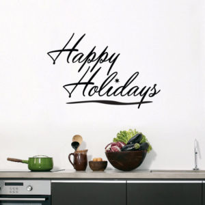 Usher in the season of holiday with 'happy holidays' sticker