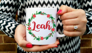 Winter Wreath Personalized Mug
