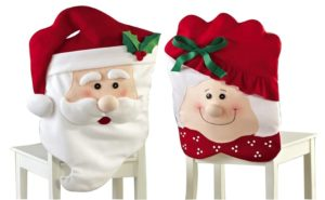and Mrs. Santa Claus chair covers