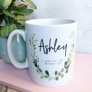Winter Wreath Personalized Mug