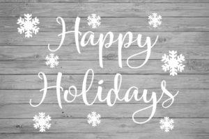 happy holidays' sticker