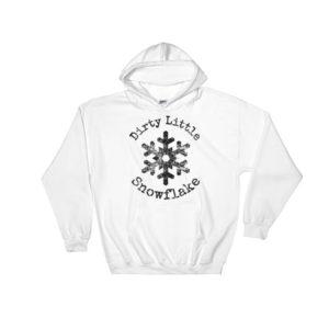 snow flake printed hoodie