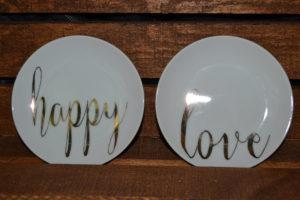 Valentine's Romantic Cocktail Plates