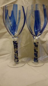 Pretty beaded wine glasses