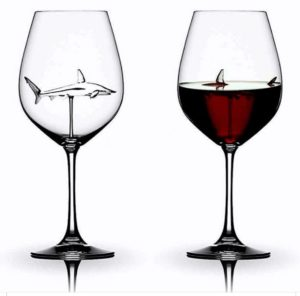 The Shark Wine Glass Crystal Cup Goblet