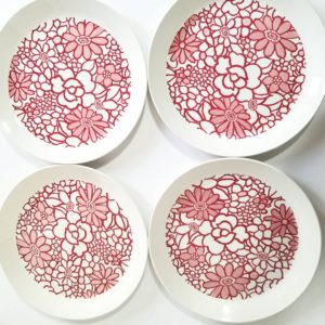 Pink Ironstone dinner plate