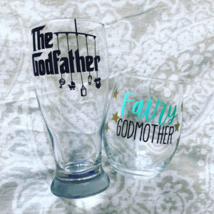 Fairy Godmother holiday wine glasses