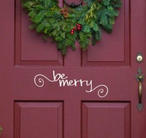 Christmas Door Wall Decal