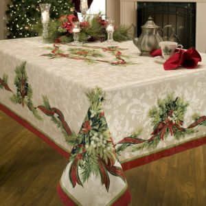 Christmas Printed Fabric Tablecloth