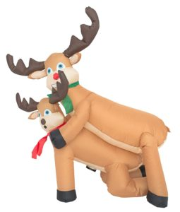Humping Reindeer Inflatable Christmas Decoration