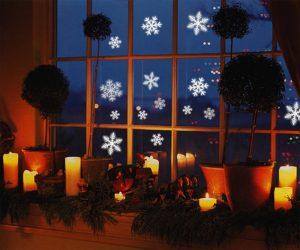Reusable Snowflakes Window Stickers