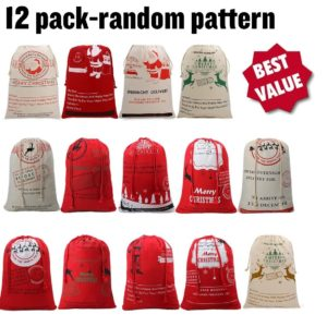 Santa Claus Gifts Bags Sack