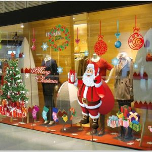 Santa Claus Windows Stickers