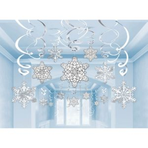 Snowflake Hanging Swirl
