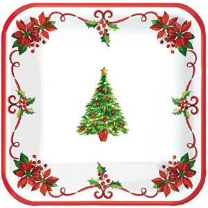 Traditional Christmas Dessert Paper Plates