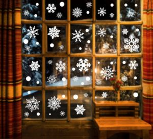 Window Clings Snowflake Decals