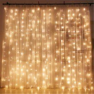 Window Curtain String Lights