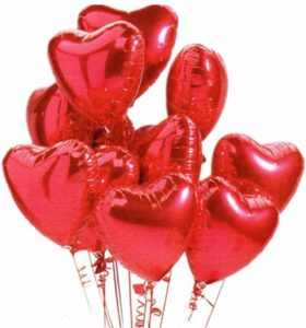 Helium Balloons - Valentine day decor ideas