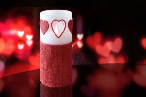 Heart Shaped Flameless Candles