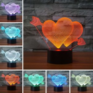 Touch Sensor 3D Glow LED Lamp
