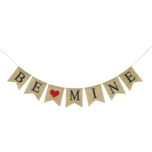 Be Mine Burlap Garland - Valentine day decor ideas