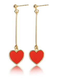 Dangle Heart Earrings - Valentine hearts