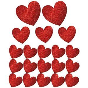 Glitter Heart Cutouts Decoration