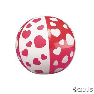 Heart Beach Balls - Valentine day decor ideas