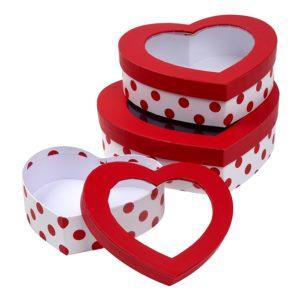 Heart Shaped Cardboard Treat Boxes