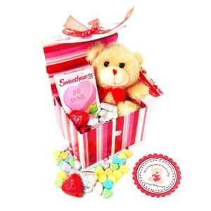 Teddy Bear and Candies Gift Basket