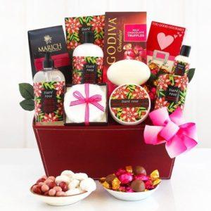 Tiare Roses Spa Gift Basket