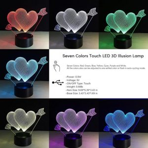Touch Sensor 3D Glow LED Lamp