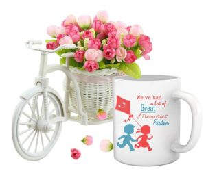 Cycle Vase and Coffee Mug