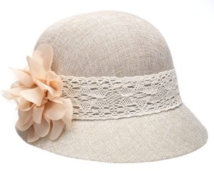 Epoch Women's Gatsby Linen Cloche Hat