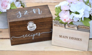 Recipe Box - Personalized Recipe Box - Housewarming Gift