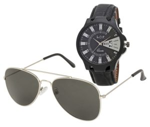 Multi-function watch and Aviator sunglasses