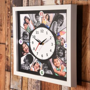 Personalized Clock with photos and wishes