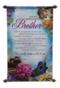 Scroll Card For Brother