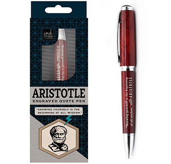 Aristotle Enlightened Quote Pen - thoughful gifts for professors