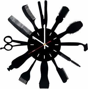 Barber Shop Man Vinyl Record Wall Clock