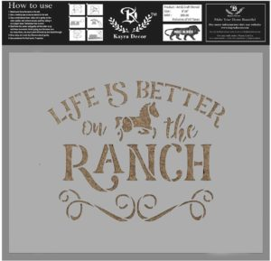 Life is better on the ranch sign wall decor