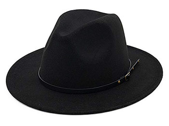 Lisianthus Belt Buckle Fedora Hat - Gifts for ranchers