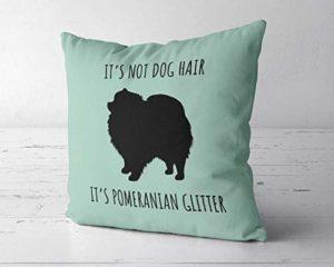 Pomeranian Glitter Pillow Cover