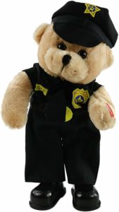 Singing police teddy bear